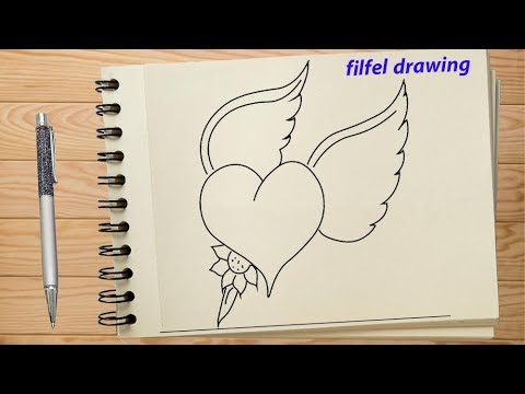 How To Draw A Heart Romantic Drawing Pencil Drawing Pencil Sketch Youtube