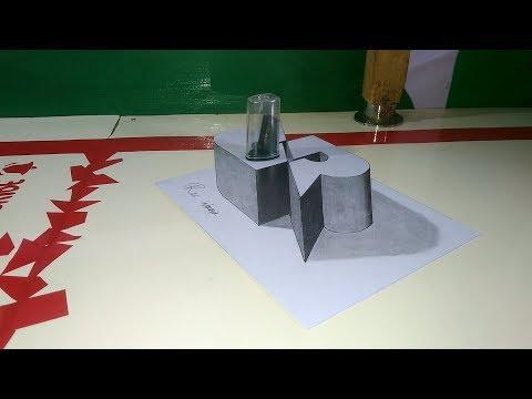How To Draw 3D Logo RRQ Team - 3D Trick Art On Paper - Cara Menggambar 3D Logo RRQ