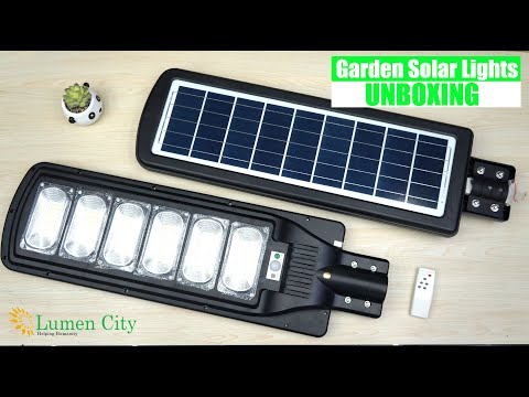 Outdoor Solar Light For Garden & Street with Automatic On/Off Function Unboxing