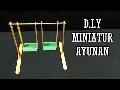 Cara Mudah Membuat Miniatur Ayunan dari Stik Es Krim