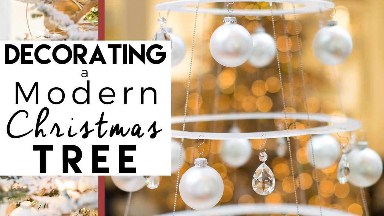 Modern Christmas Trees Decorated.Christmas Decorating Modern Christmas Tree Christmas Decorations 2018