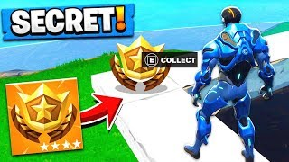 SECRET BATTLE PASS LOCATION! Season 4 Battle Pass Tomato Town Challenge! (Fortnite Battle Royale)