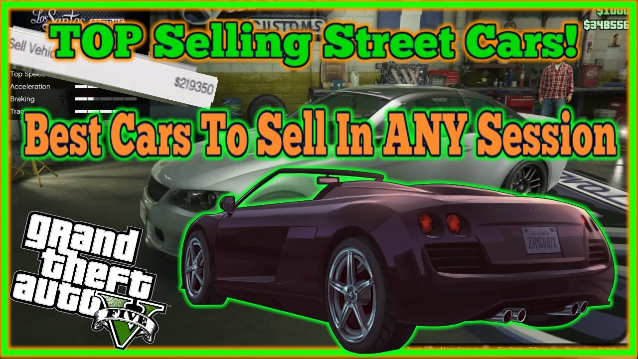 gta 5 online top selling street cars in any session. Black Bedroom Furniture Sets. Home Design Ideas