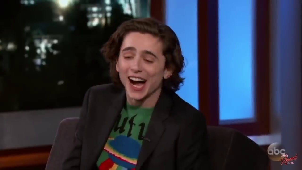 timothée chalamet being iconic for 6 minutes straight