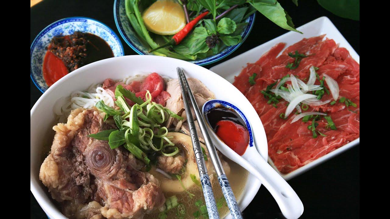 Jn Oxtail And Marrow Bones Pho Vietnamese Beef Noodle Soup Youtube