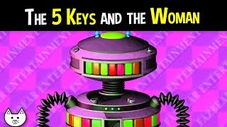 FNAF 6 Easter Egg - Candy Cadet Story - The 5 Keys and The Woman