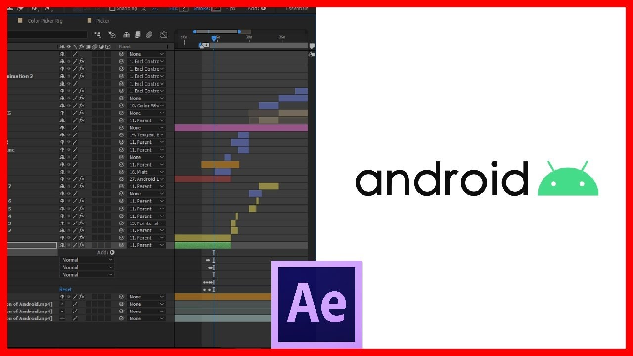 WORKFLOW #01 New Android 10 Animation in Adobe after effects | Recreated