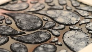Esmaltes al agua - Efectos con Pinturas - Pintar espejos - Lidia Gonzalez Varela