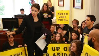 One week after the midterm elections, 200 young people joined Alexandria Ocasio-Cortez to demand Democrats back a Green New Deal.