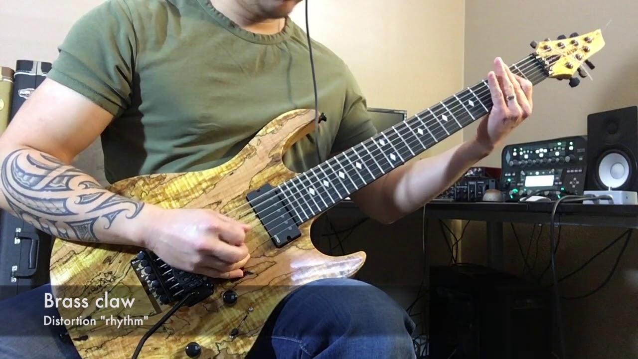 Floyd Rose upgrades: 7-string brass block & claw