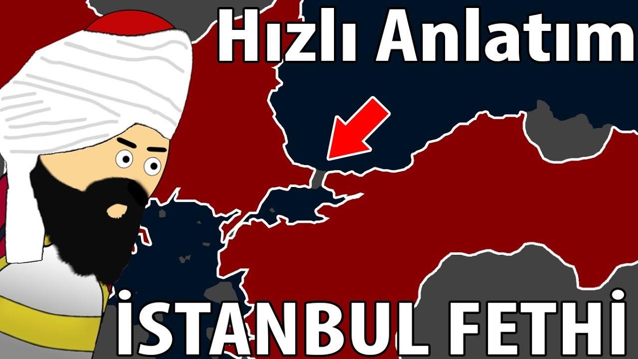 1453 İstanbul`un Fethi - Harita Üzerinde Hızlı Anlatım