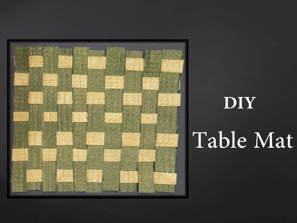 How To Make A Woven Paper Mat Youtube