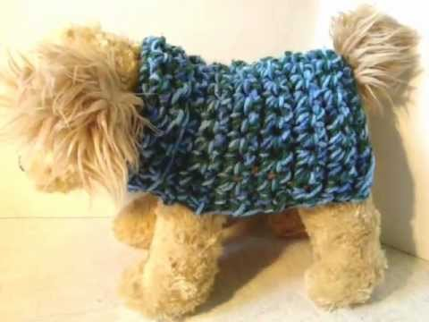 Free Easy Knitting Patterns For Medium Dog Jumpers : HOW TO CROCHET A DOGGIE COAT ANY SIZE - YouTube