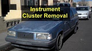 Instrument cluster removal, installation, Volvo 740, 940, 240, etc. - VOTD