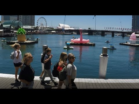 SYDNEY WALK 2018 - From Barangaroo To Darling Harbour To Pyrmont Bay