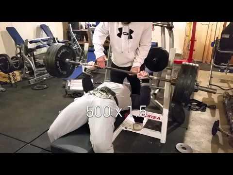 UPA meet prep. 520 bench@235 bodyweight