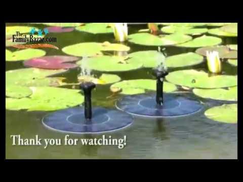 Solar Powered Water Bird Fountain