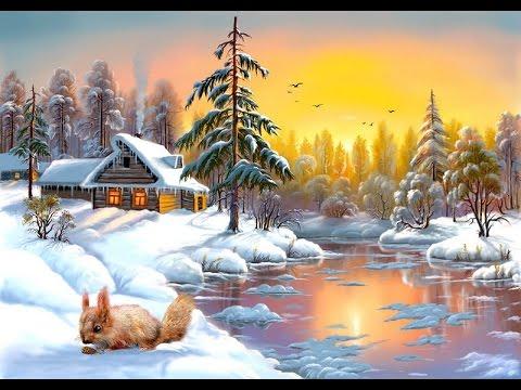 Зимняя сказка. Цифровая живопись Виктора Цыганова.