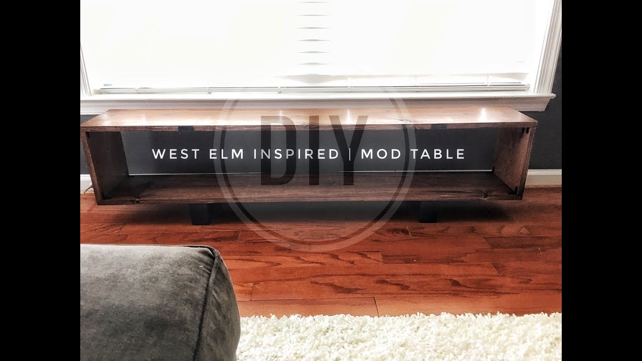 DIY | West Elm | Mid Century Modern Coffee Table | Simple U0026 Inexpensive    YouTube