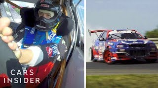 Professional Drifter Only Drives With His Feet