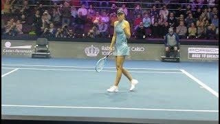 Maria Sharapova vs  Daria Gavrilova. Match point live court view