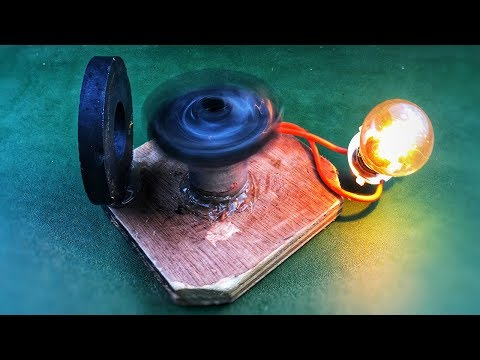 Electric Free Energy Magnet Generator Homemade With DC Motor New Technology Idea Project 2018