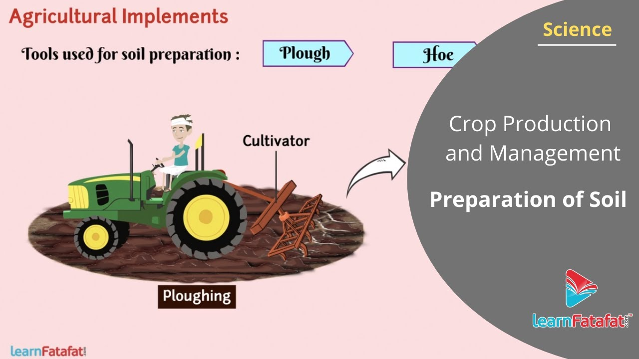 Crop Production and Management Class 8 Science - Preparation of Soil