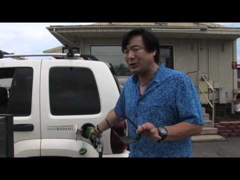 Ming Tsai fuels up on Pacific Bio Diesel fuel in Maui