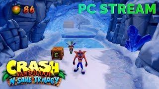 CrystalFissure Streams Crash Bandicoot N. Sane Trilogy on PC!