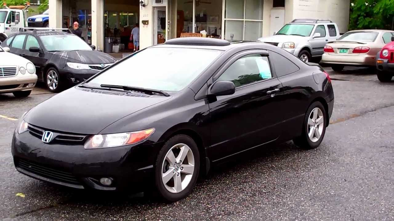 2008 honda civic ex l coupe 2dr vtec youtube. Black Bedroom Furniture Sets. Home Design Ideas