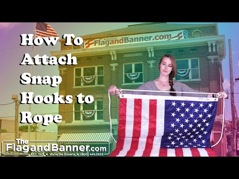 How to Attach a Flag to a Flag pole - Install a Flag