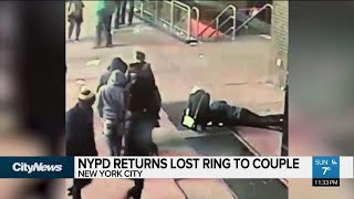 NYPD returns lost ring to couple engaged in Times Square