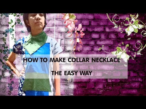 CLOTHES HACK : MAKING COLLAR NECKLACE (English & Indonesia subtitle)