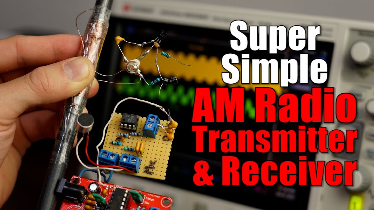 Building a Super Simple AM Radio Transmitter & Receiver! Keeping Wireless Audio Communication easy!