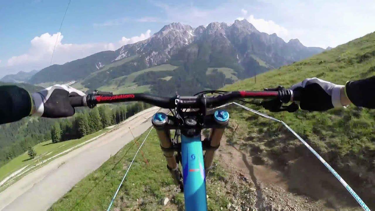 Downhill MTB GoPro footage on epic Austrian track