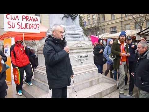 Obraćanje glasnogovornika Glasa razuma na Maršu protiv referenduma o braku