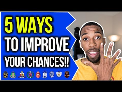 5 WAYS TO IMPROVE YOUR CHANCES | NPHC ADVICE | COREY JONES
