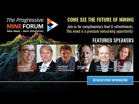 Progressive Mine Forum: Come See the Mine of the Future – October 23, 2017 – Toronto, Ontario  Bu...