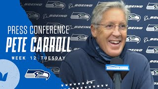 Pete Carroll 2020 Week 12 Tues…