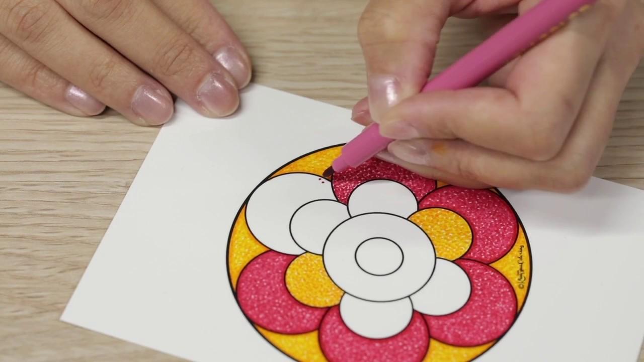 Coloriage Zen Ecole.Detente Avec Un Coloriage Zen Facon Pointillisme Youtube