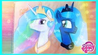 Рисую Принцессу Селестия и Принцессу Луну | My Little Pony(В этом видео я рисую Принцессу Селестия и Принцессу Луну Канал Джек Мейсон мои братhttps://www.youtube.com/user/MrJackMaysn..., 2015-05-24T12:14:04.000Z)
