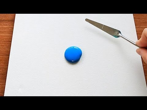 Very Easy Flowers Field Acrylic Painting Tutorial For Beginners #169|Satisfying Relaxing Abstract