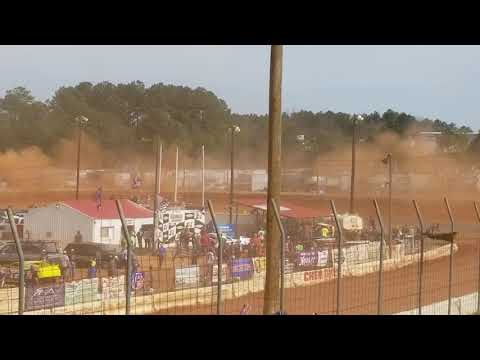 Benji Hicks goes for a wild ride at Cherokee Speedway   March 3rd 2019