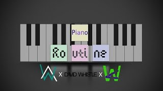 Alan Walker X David Whistle Routine - Piano Keyboard Cover by Wizario.mp3