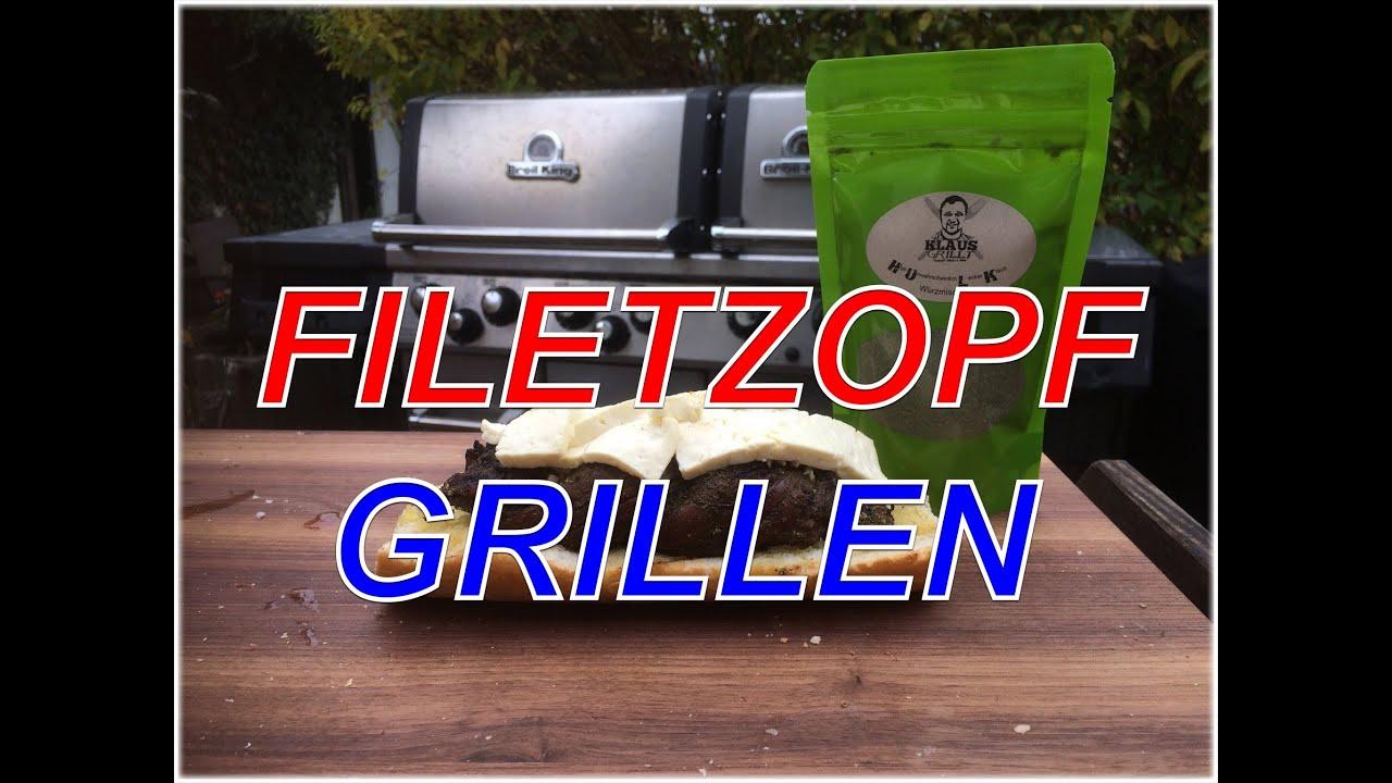 Weber Elektrogrill Lammlachse : Filet als zopf grillen lammfilet klaus grillt youtube