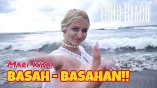 KE PANTAI BARENG BULE CANTIK!! KITA BASAH - BASAHAN!!