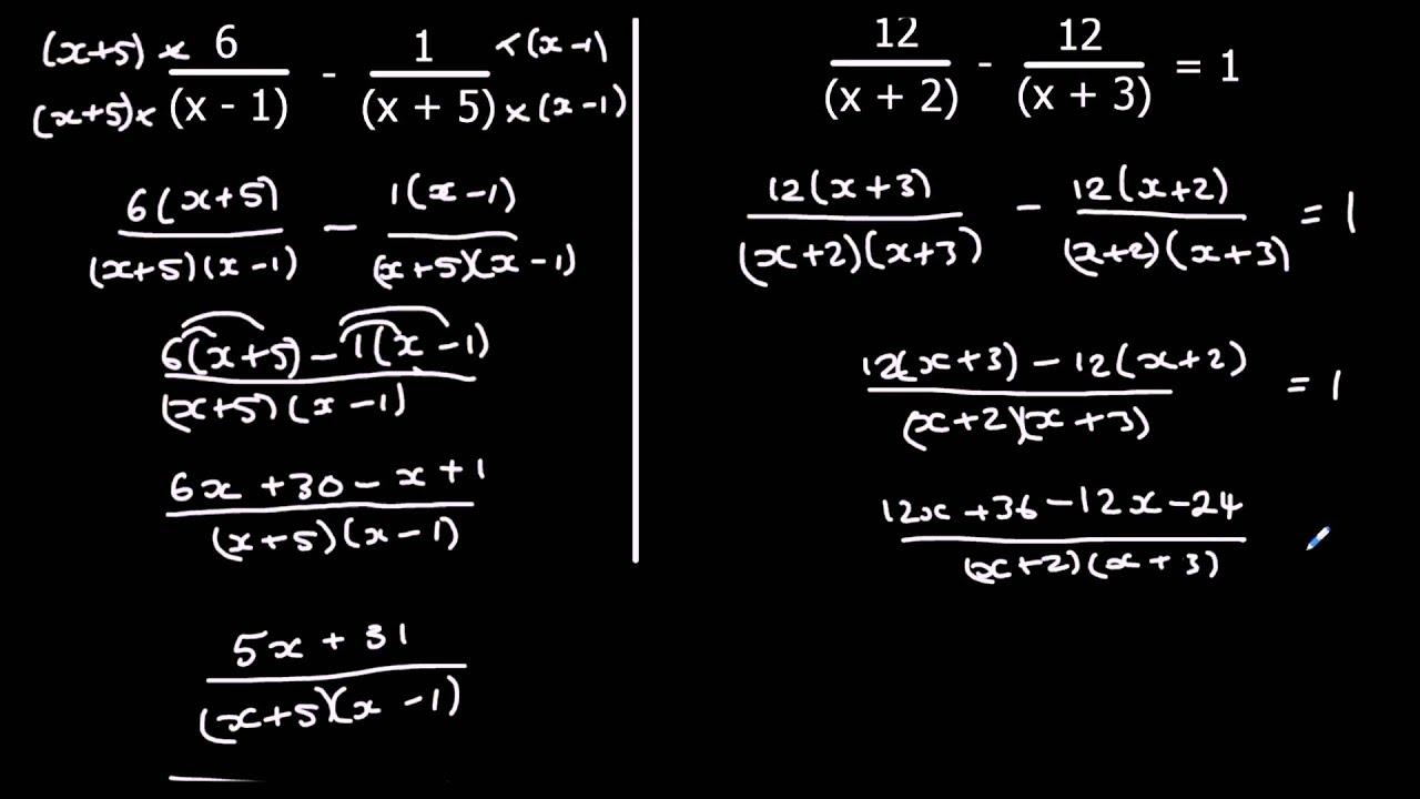 Algebraic Fractions Youtube How to solve adding algebraic fractions
