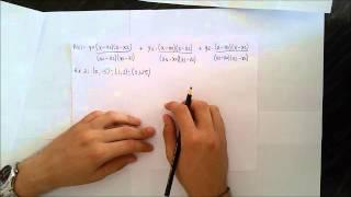 Interpolação de Lagrange - Cálculo Numérico