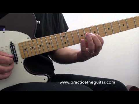 Guitar Lesson-How To Play Maroon 5 Animals-Main Riff-Bar Chords-Open Chords