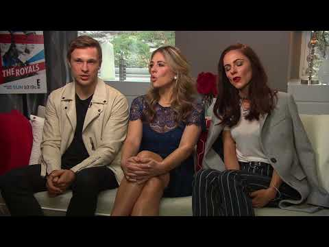 "Elizabeth Hurley, William Moseley and Alexandra Park on Season 4 of ""The Royals"""